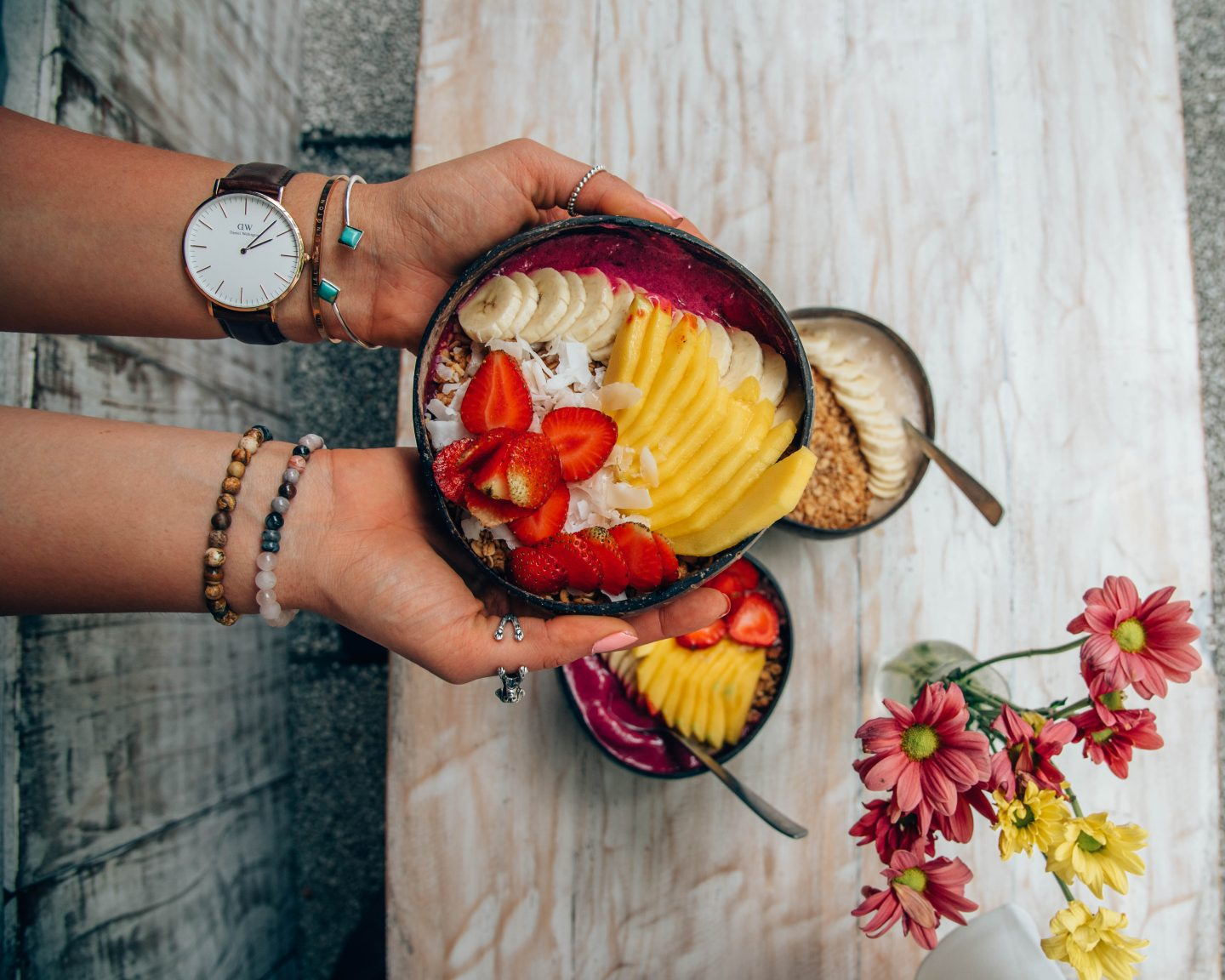 One of many smoothie bowl options at Nalu Bowls
