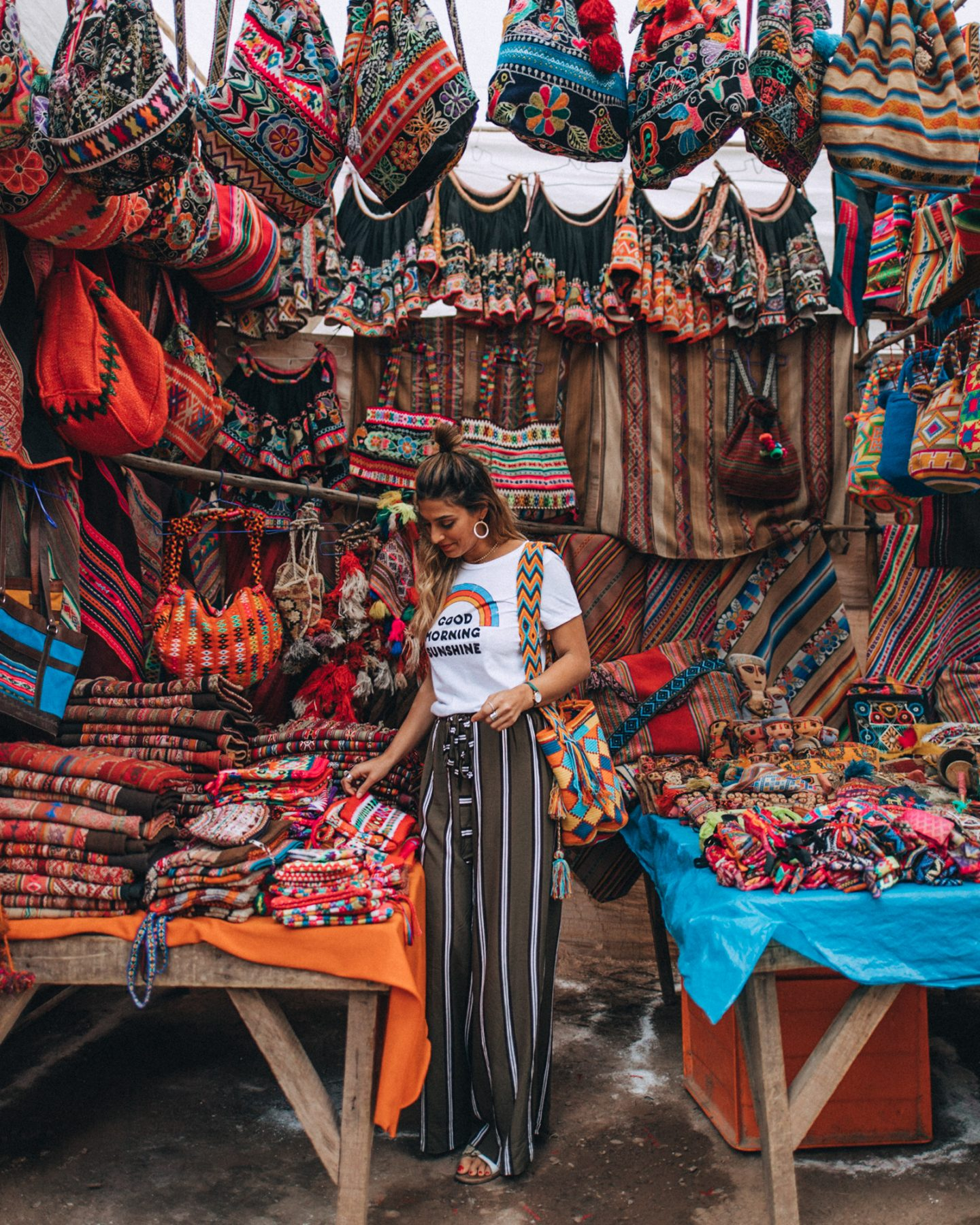 Girls shopping in the Peru market
