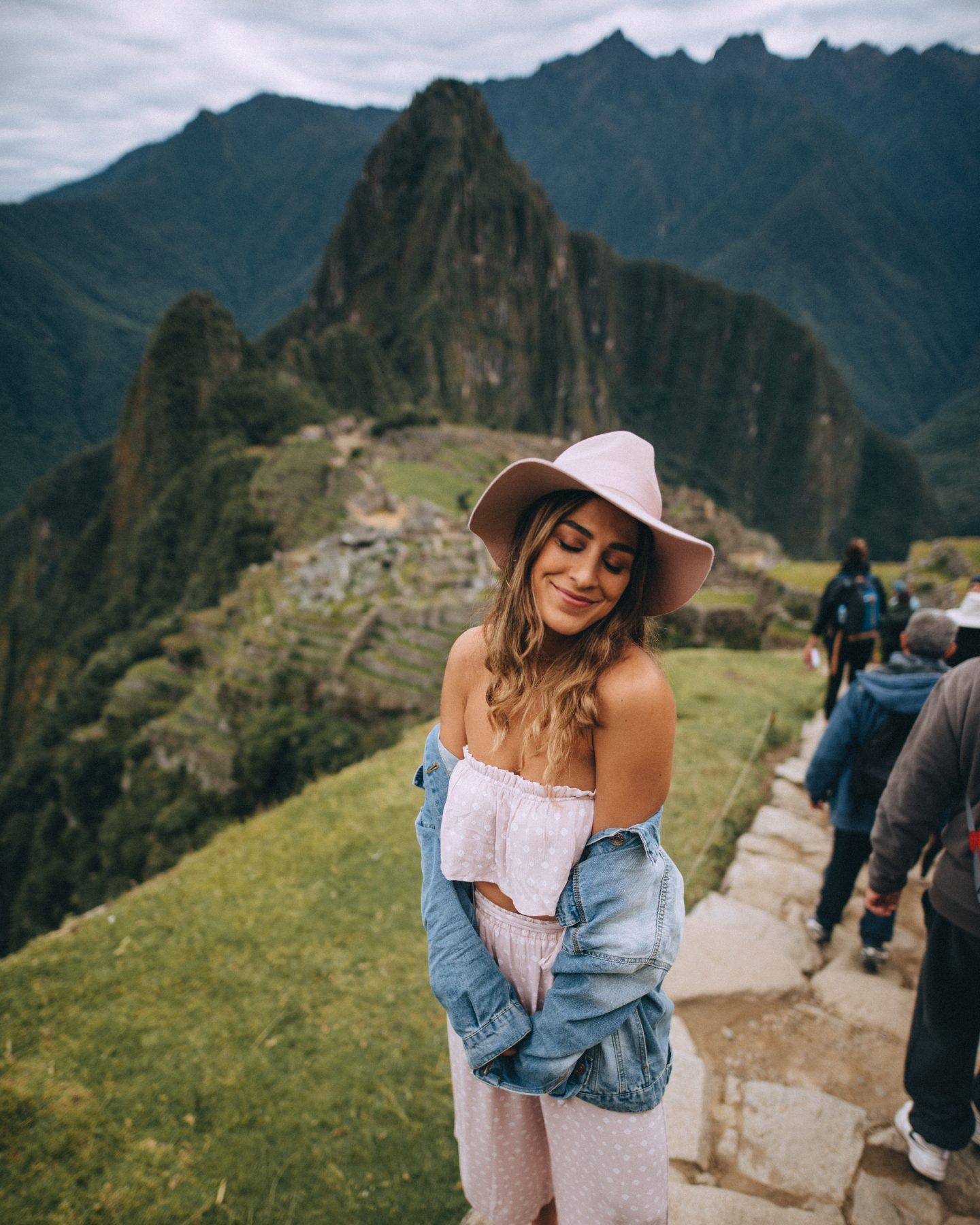 Girl at Machu Picchu
