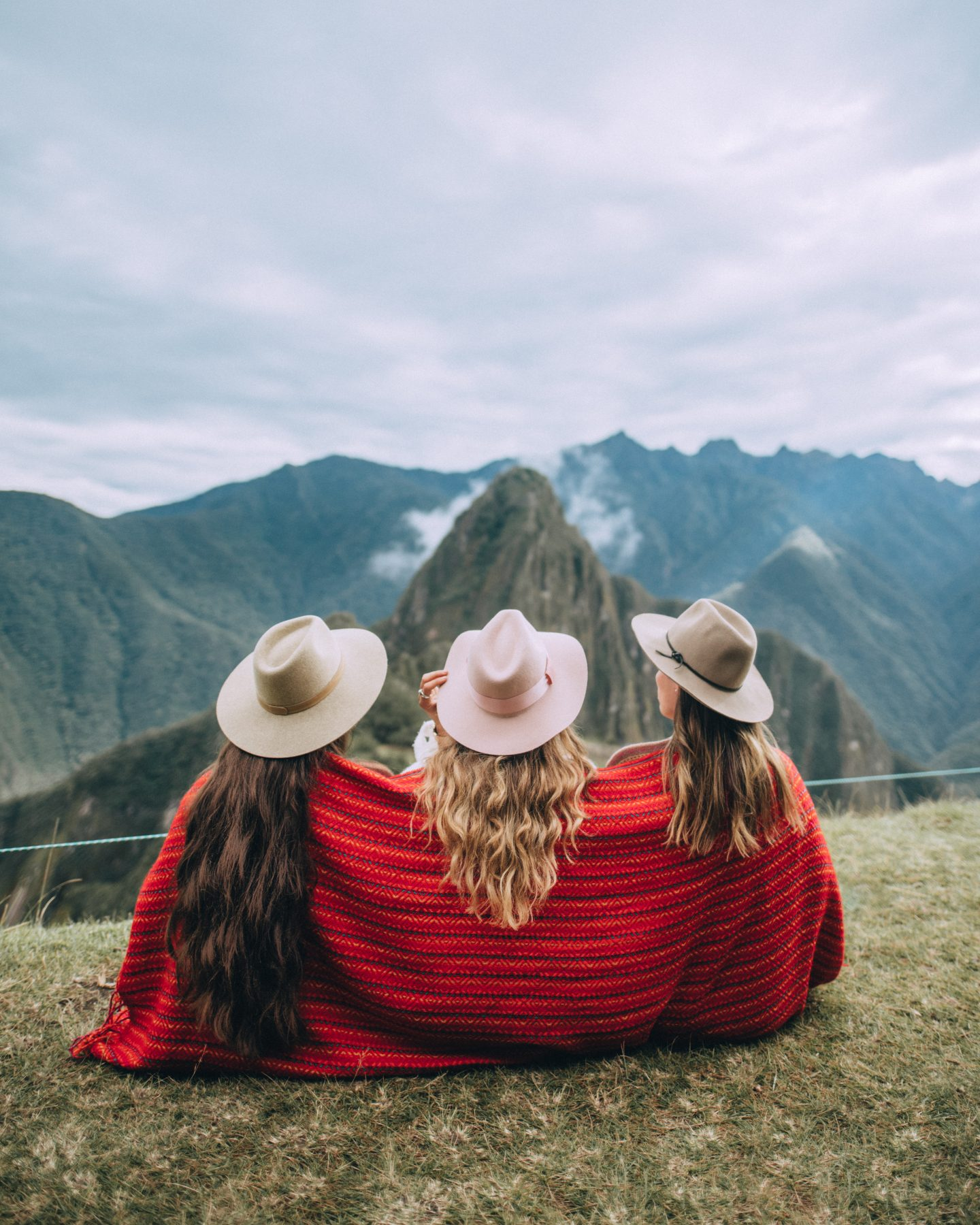 Girls on Machu Picchu