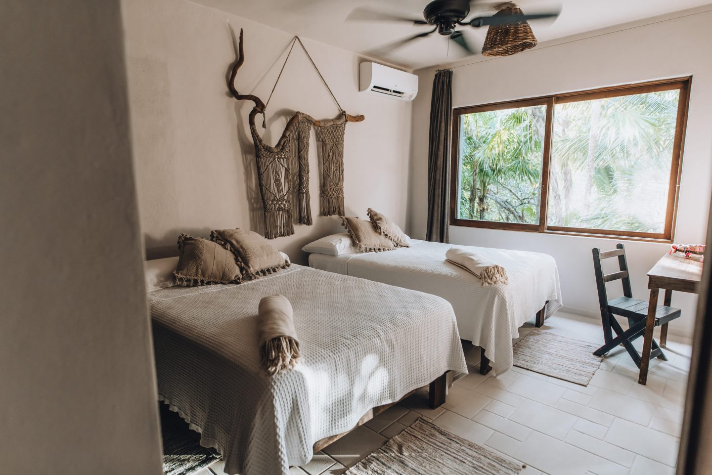The interior of a room at Nest Tulum, one of the most Instagrammable places in Tulum