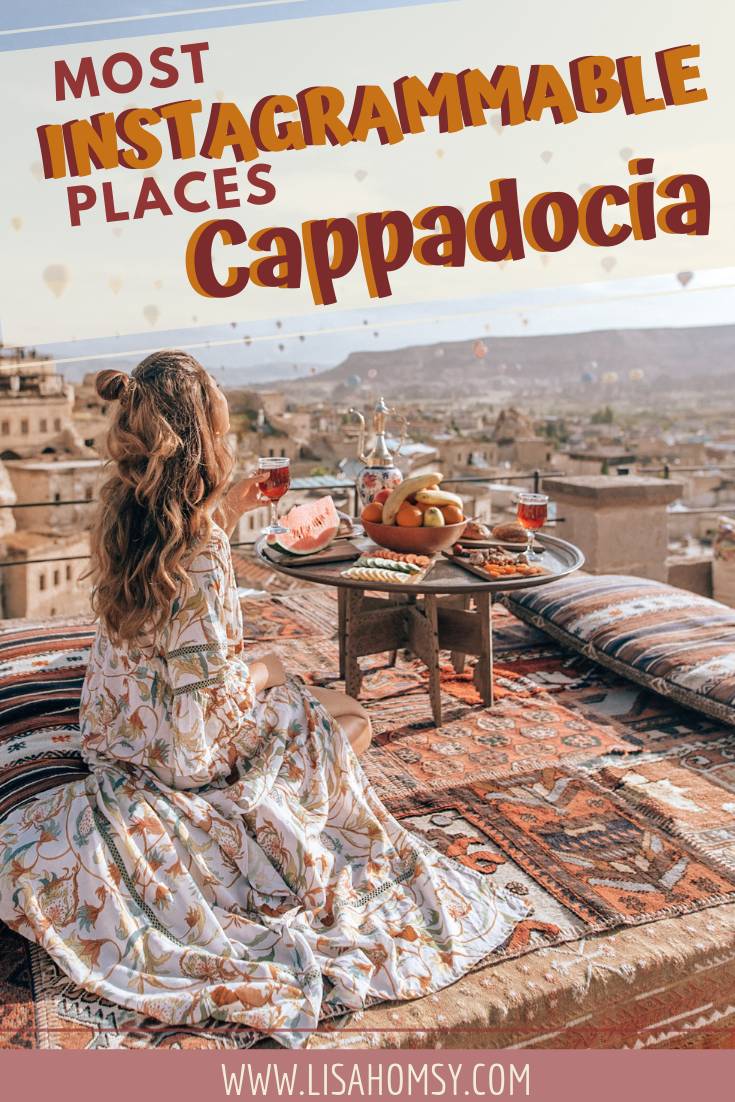 The best Instagram photo spots in Cappadocia, Turkey including the best hotels in Cappadocia. #Cappadocia #instagram #travelturkey #goreme | Cappadocia things to do in | cave hotels in Cappadocia Turkey | best hotels in Cappadocia | Instagram photo spots Cappadocia | Cappadocia Hot Air Balloon | Turkey | Fairytale Chimneys | Goreme | What to do in Cappadocia | Cappadocia Instagram | Cappadocia travel | Cappadocia Turkey hot air balloon | Cappadocia itinerary | Cappadocia Turkey sunrise