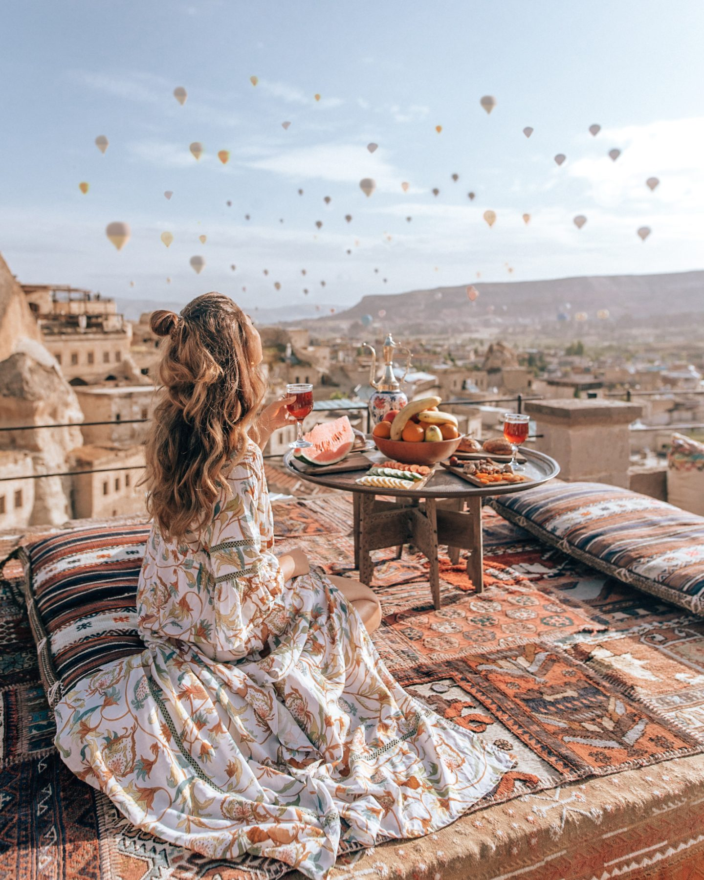 Watching a hot air balloon sunrise in Cappadocia