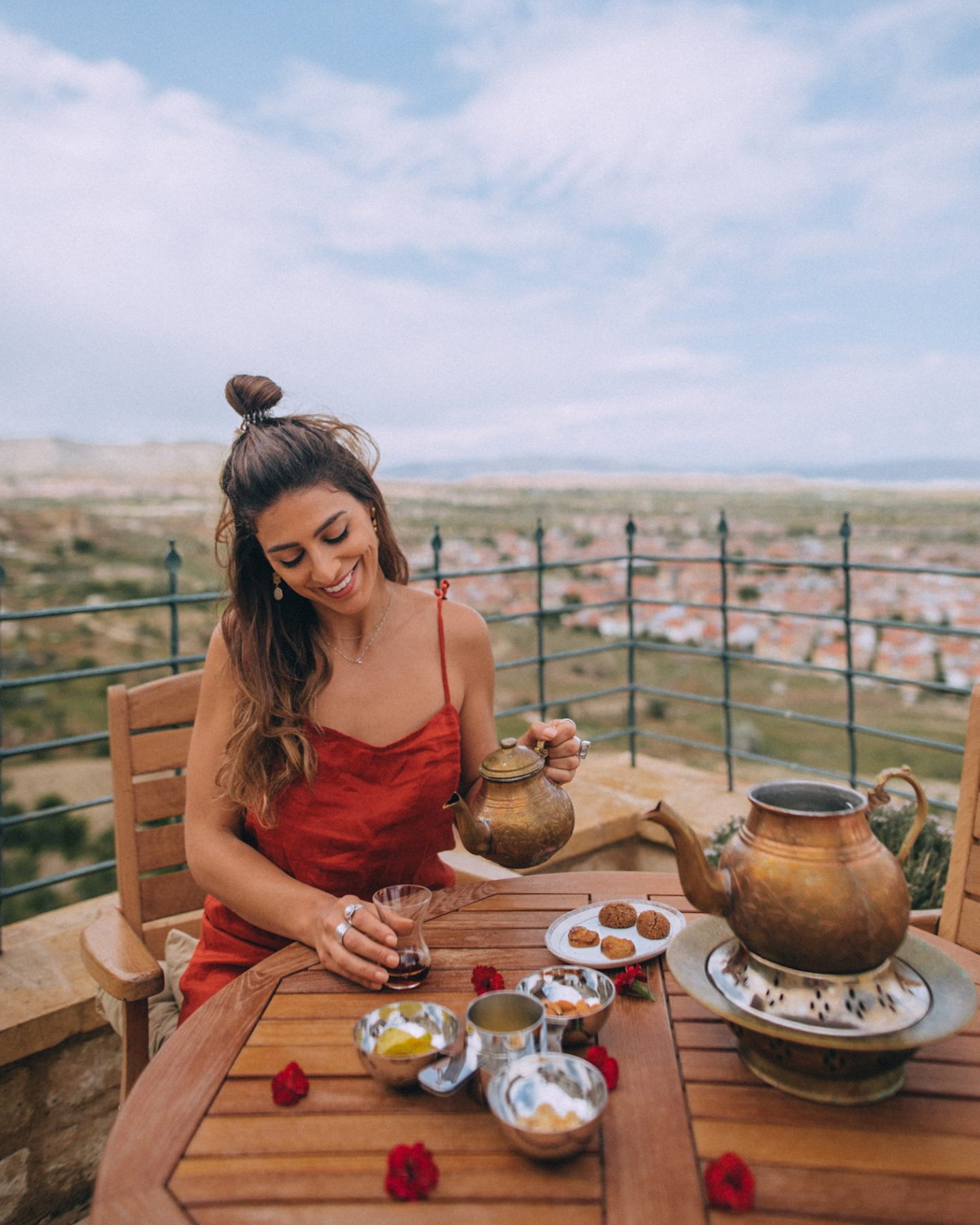 Enjoying a meal in Cappadocia