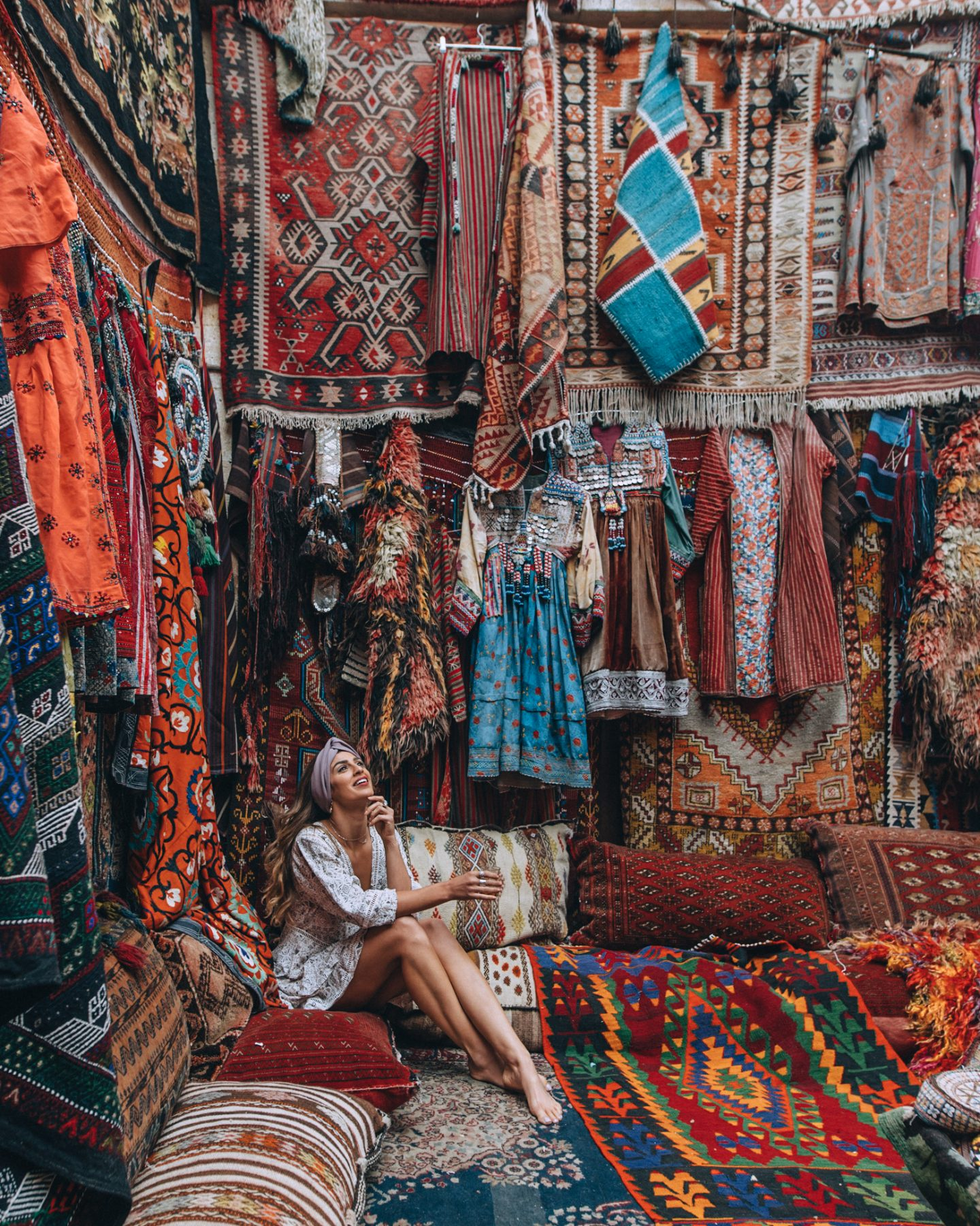 Visiting a Turkish rug shop in Cappadocia