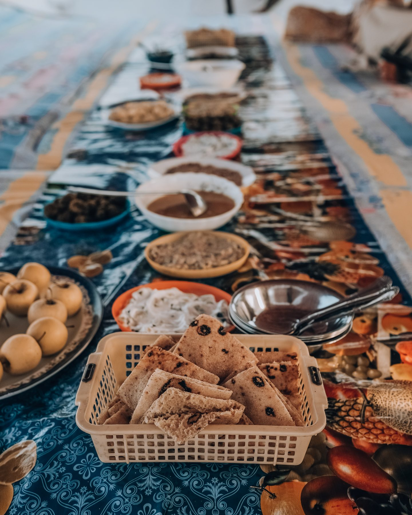 Egyptian food for a meal on the Felucca