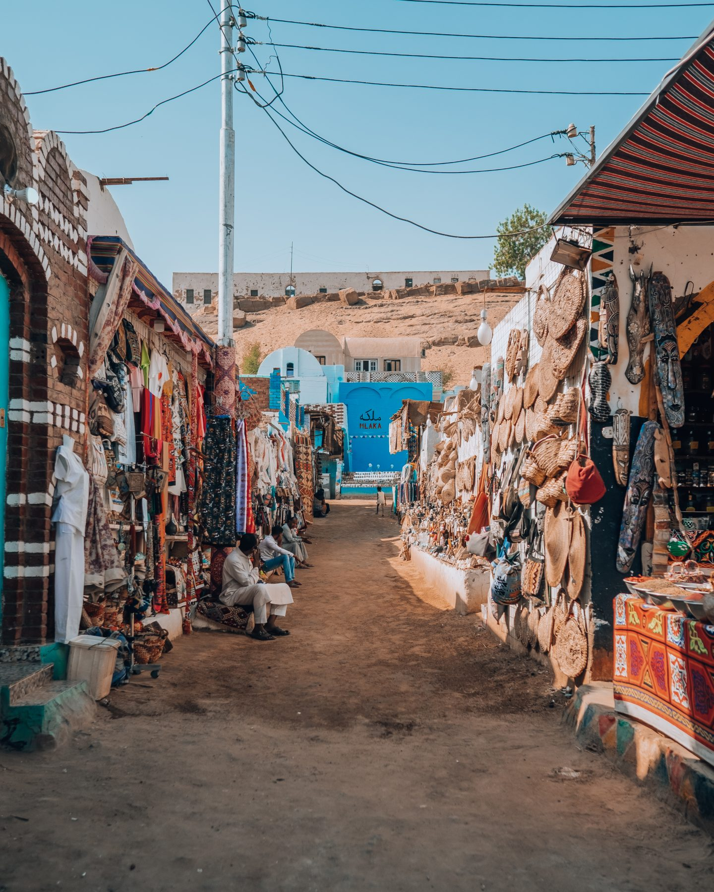 The local market in the Nubian Village in Aswan