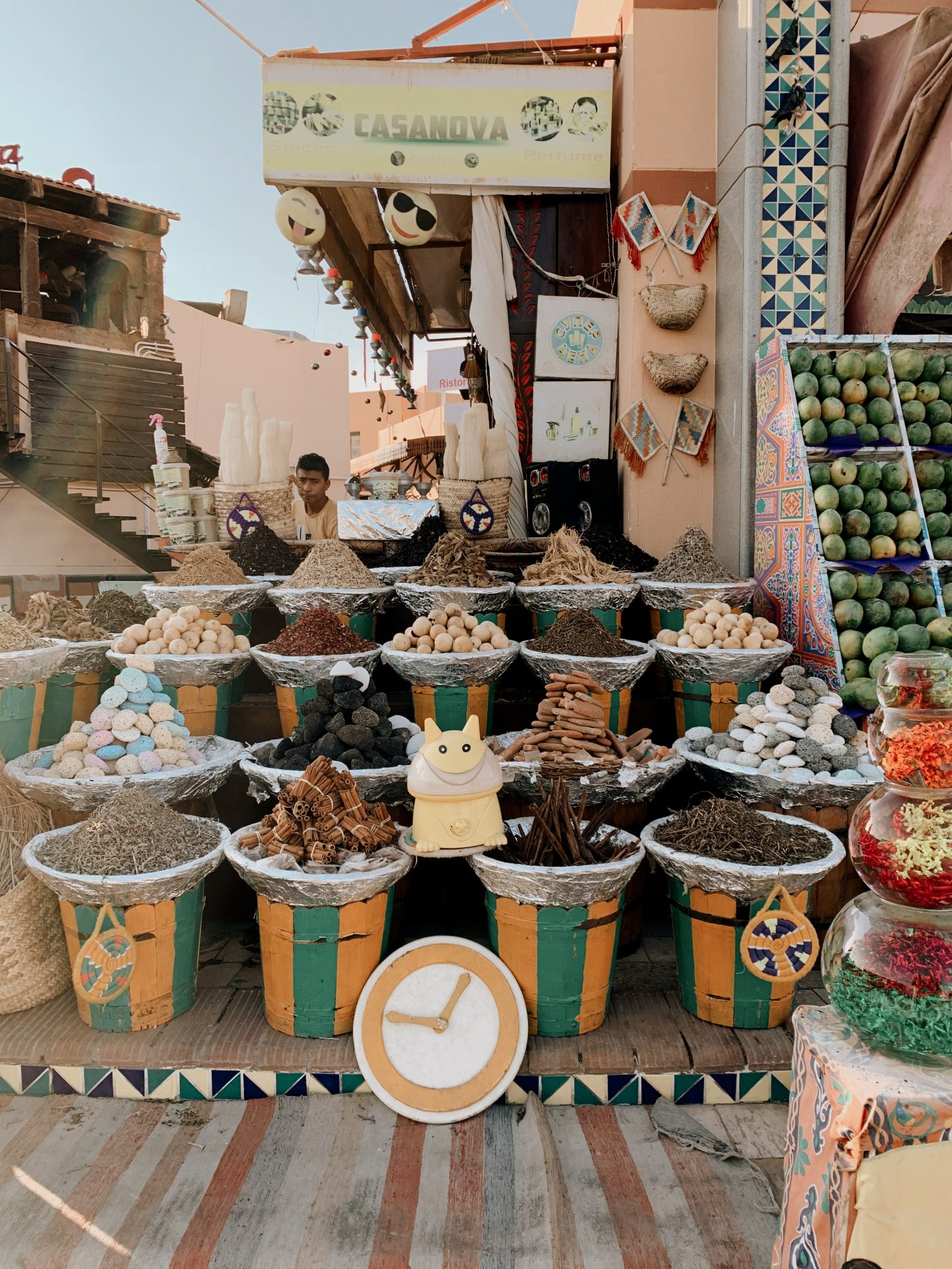A market in Dahab, Egypt