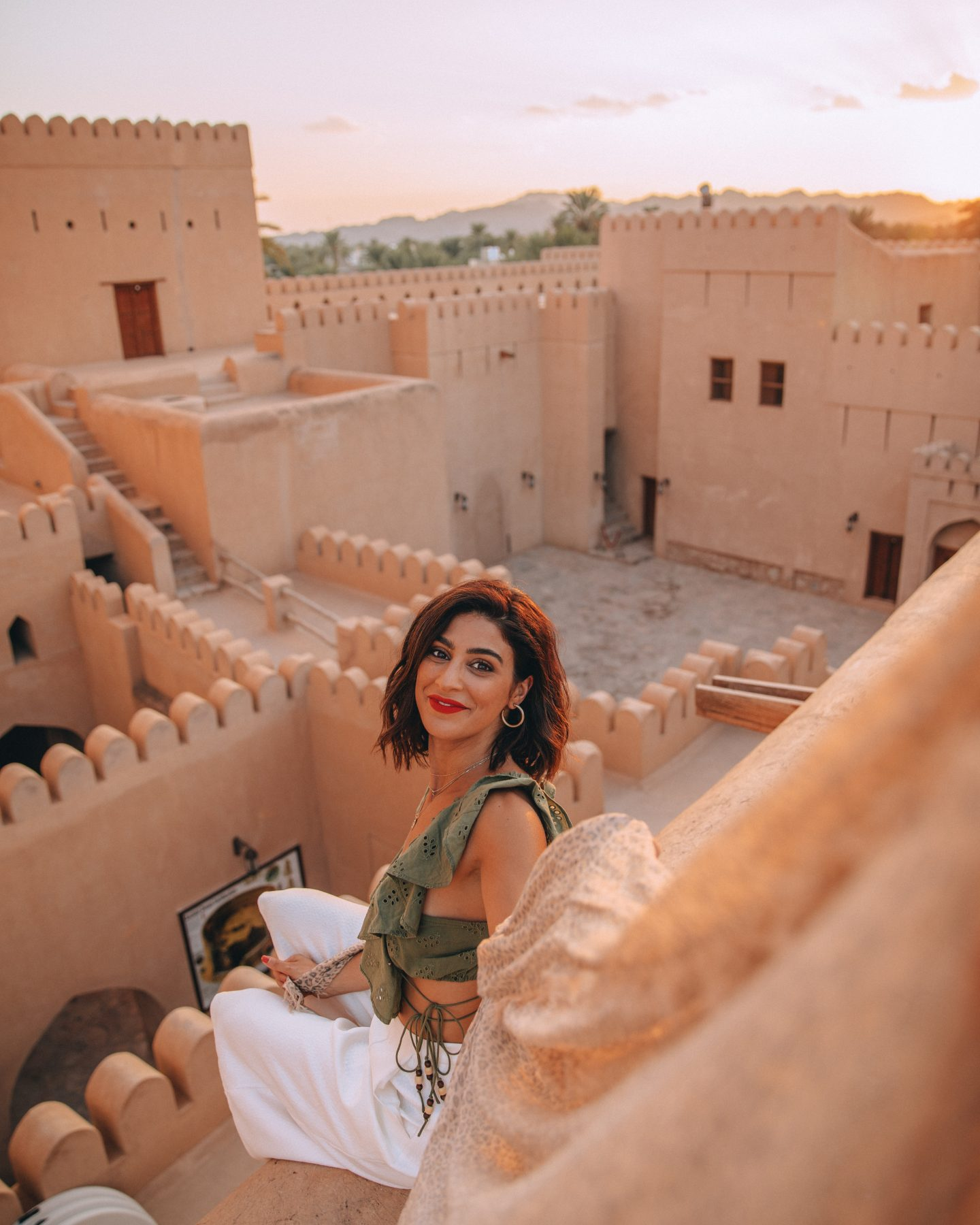 A woman in Nizwa Fort in Oman