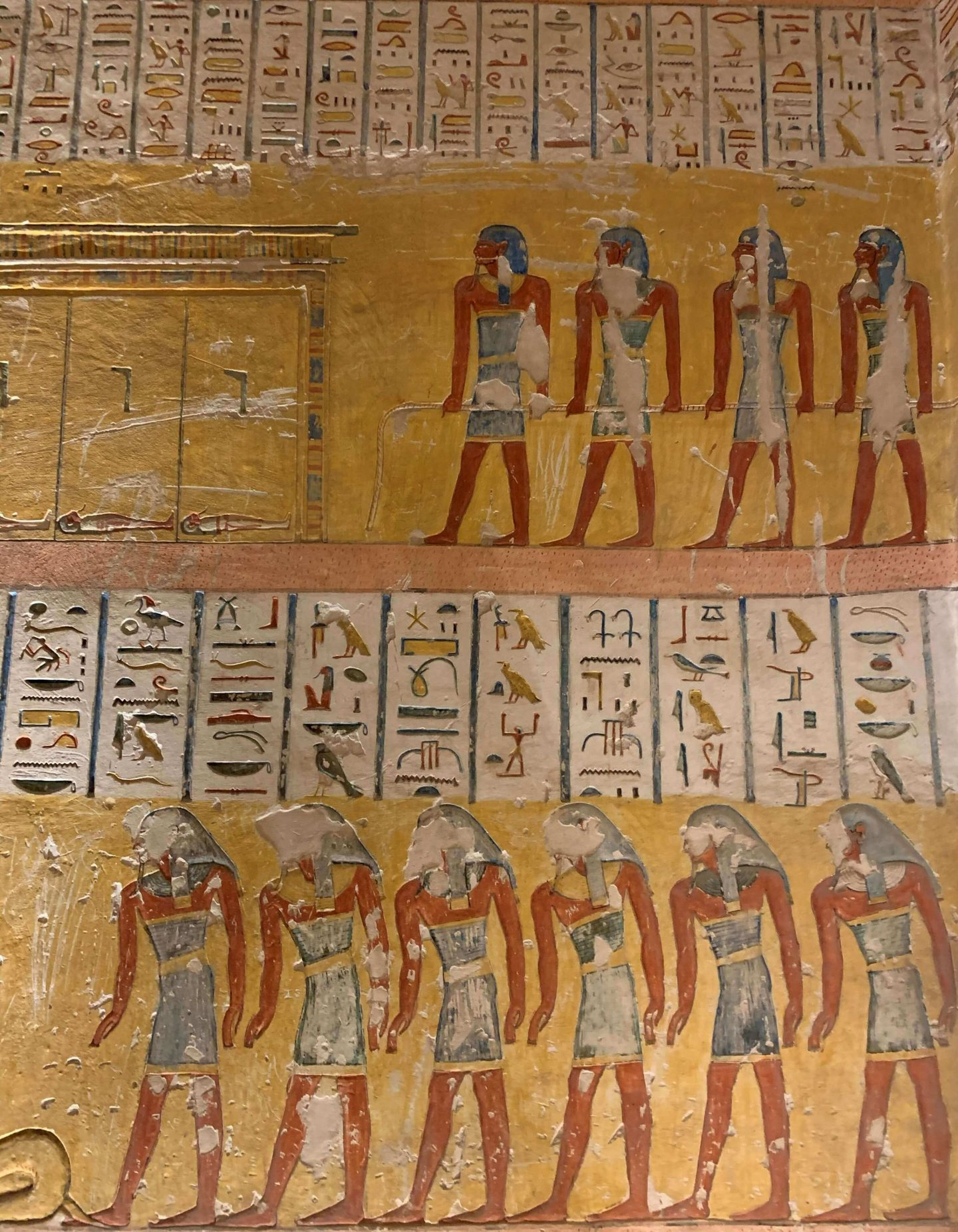 Hieroglyphics inside the tomb of Ramesses IV in the Valley of Kings