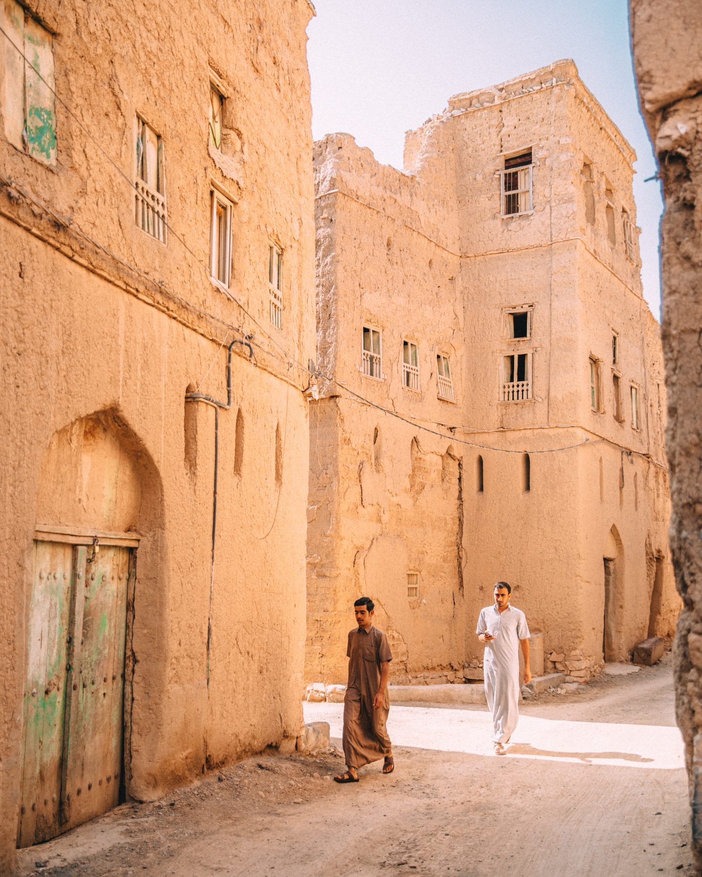 Locals in Al Hamra village in Oman