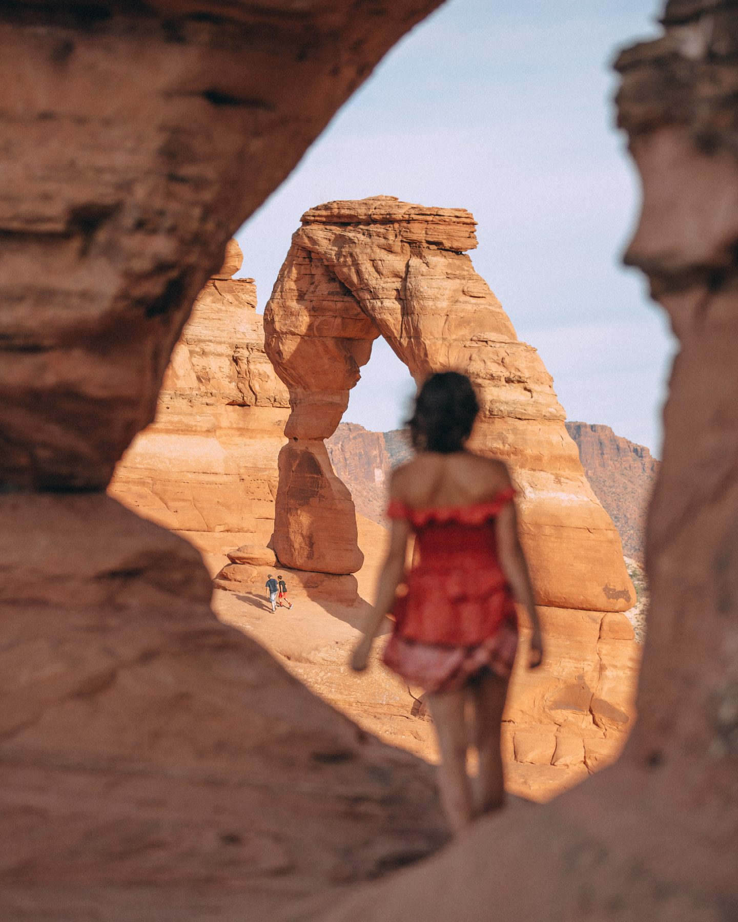 Lisa Homsy at Delicate Arch in Arches National Park
