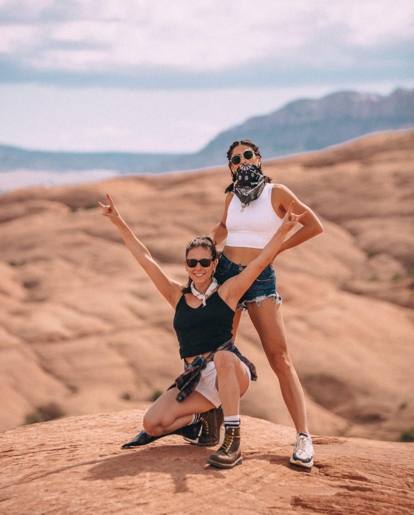 Hell's Revenge off road trail in Moab, Utah