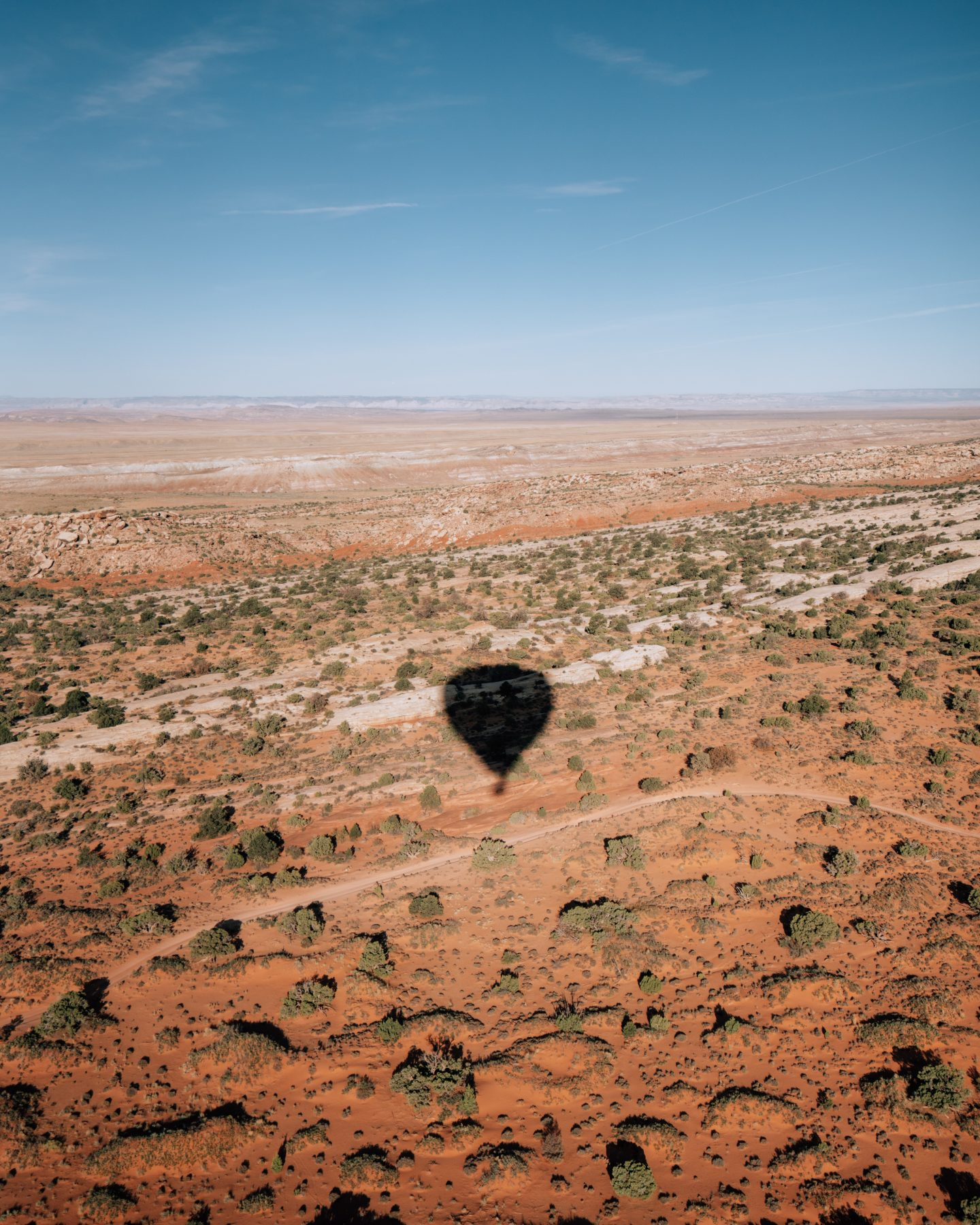 View from the hot air balloon ride over Moab, Utah