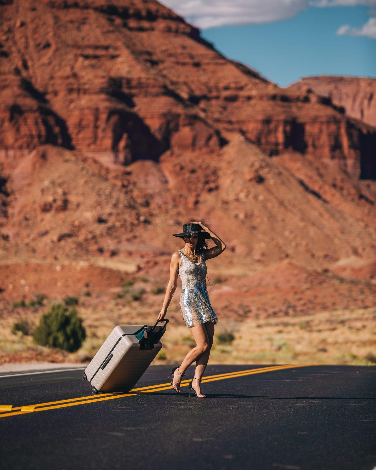 Lisa Homsy on a road trip in Utah