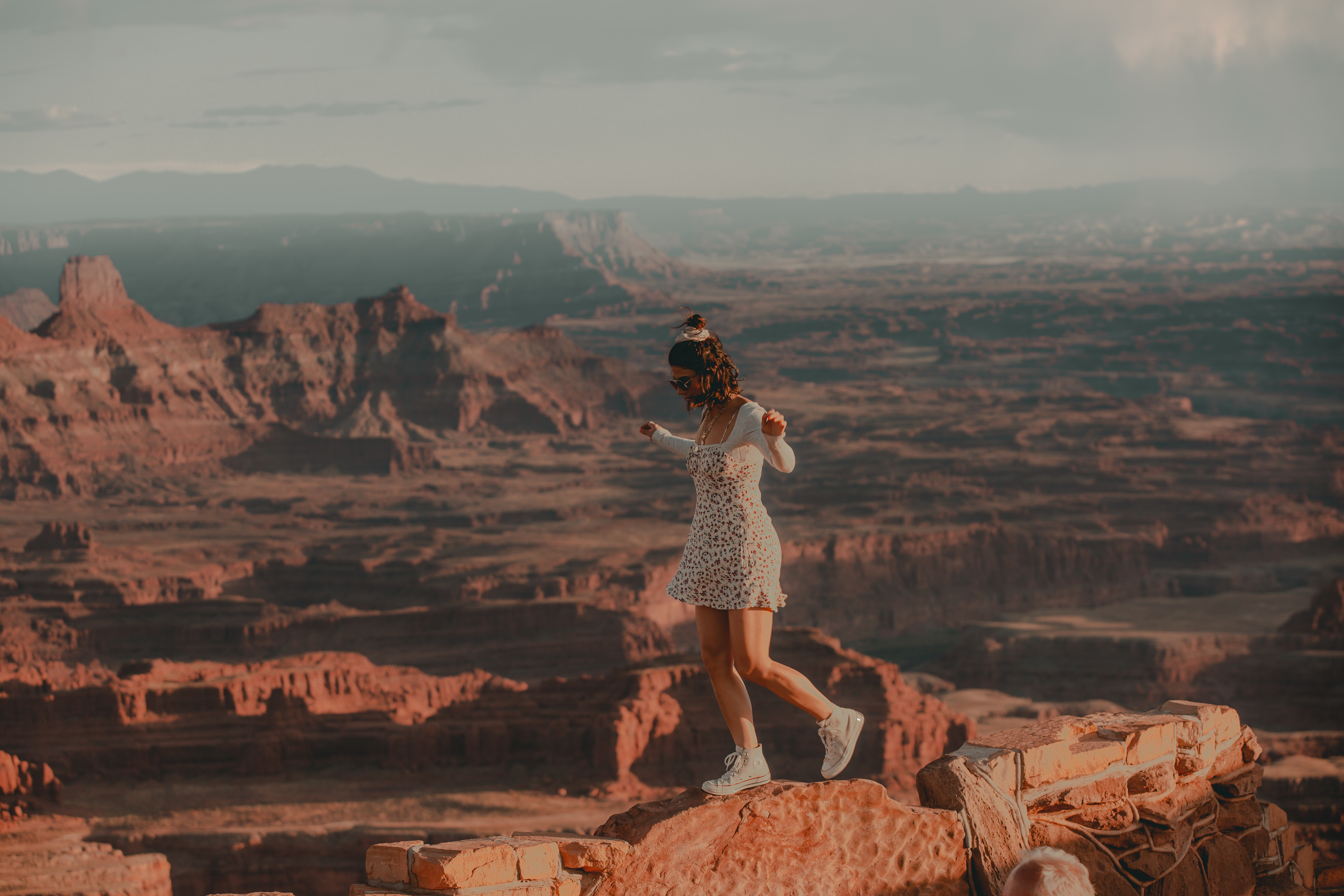 Lisa Homsy at Dead Horse Point in Utah