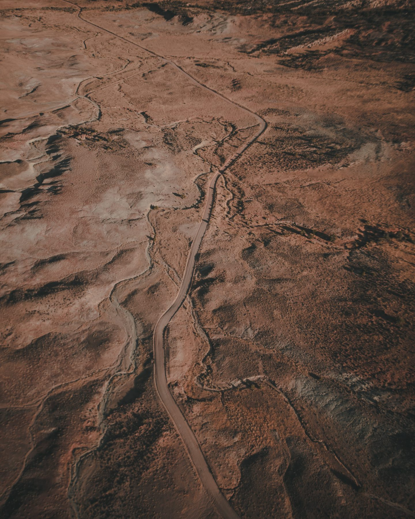 Landscape around Moab Utah from a sunrise hot air balloon ride