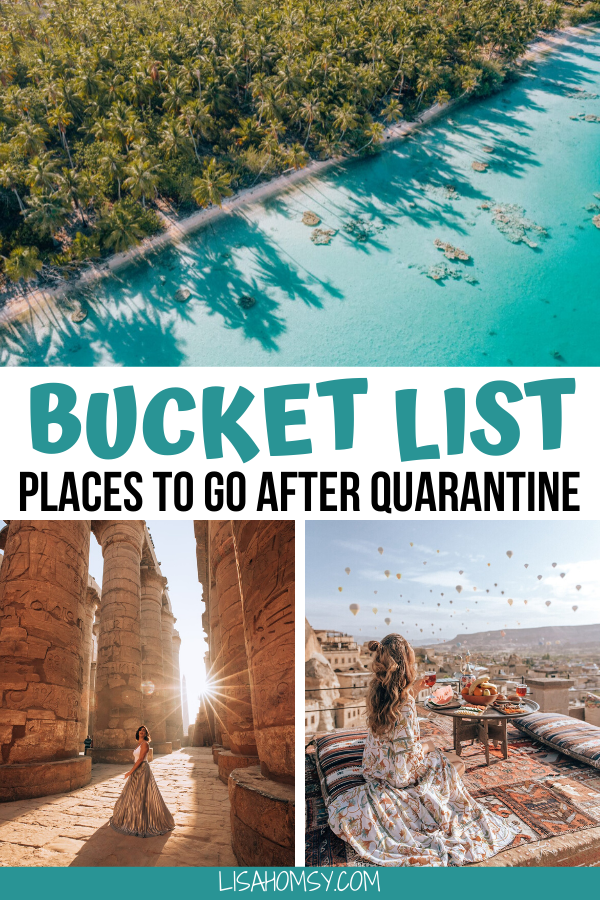 Click here for a list of the top 7 travel destinations for your bucket list. These are some of the best places to travel after quarantine! #beautifulplaces #bucketlist #travel | once in a lifetime destinations | bucket list destinations | bucket list travel | best places to visit | most beautiful destinations in the world | off the beaten path destinations | bucket list before I die | best places to go | best travel destinations in the world | most Instagrammable places in the world