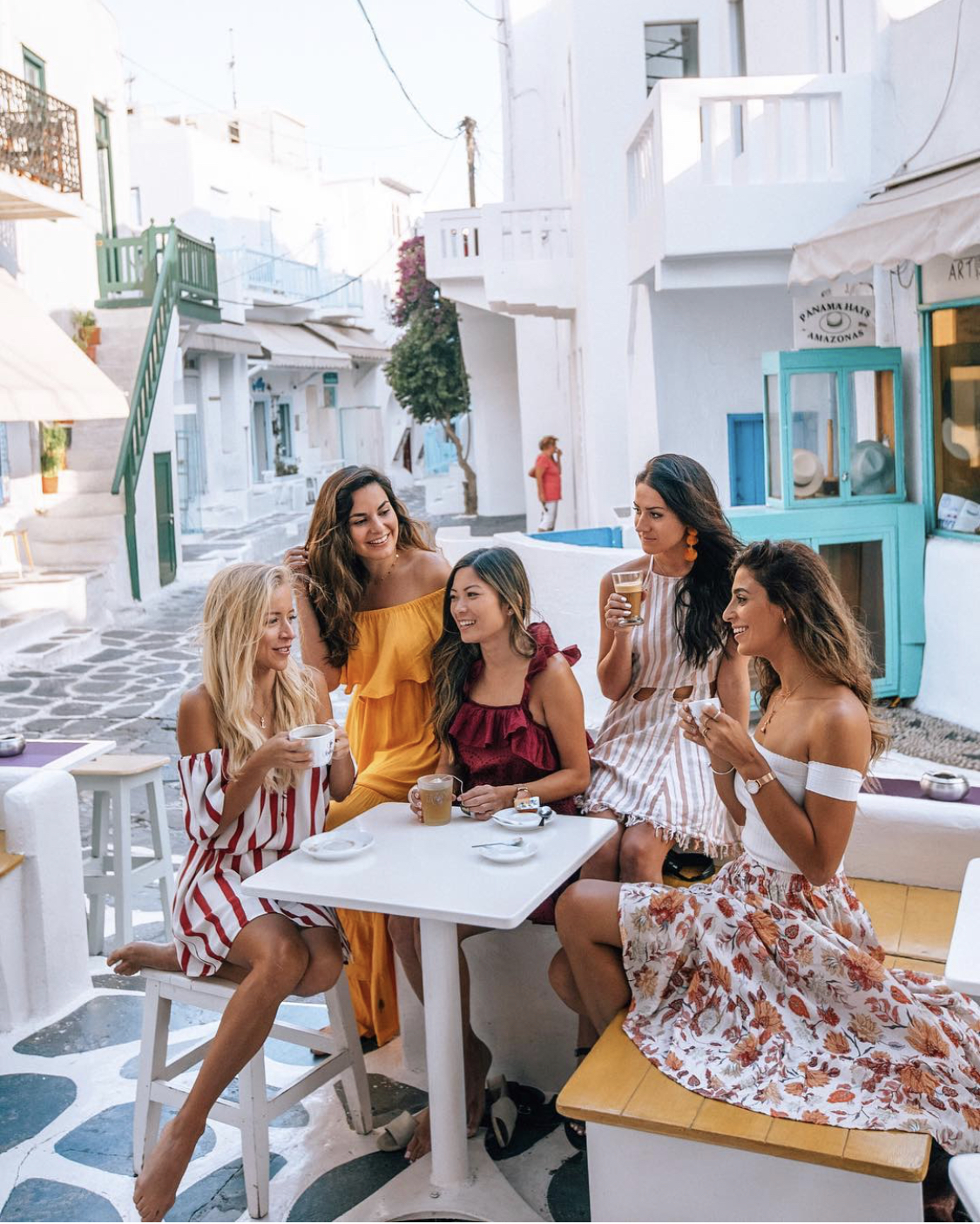 Top female travel Instagram influencers in Mykonos, Greece