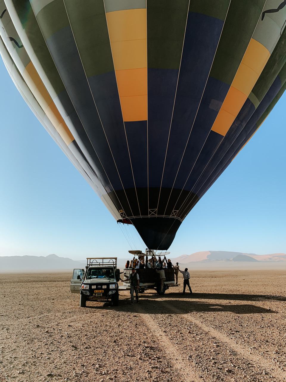 Sossusvlei hot air balloon ride in Namibia