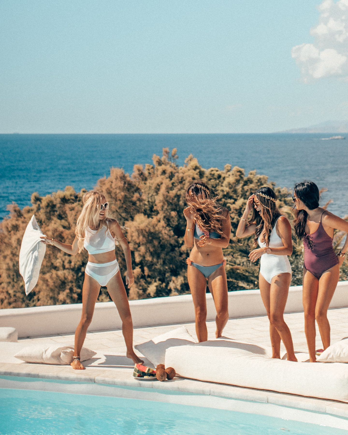 Girls trip to Mykonos Greece