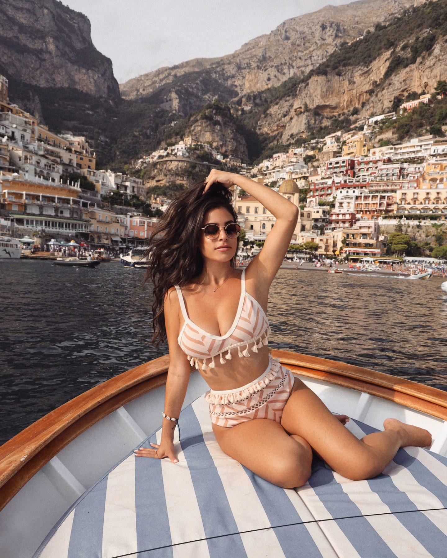 Boat trip in Positano, Italy
