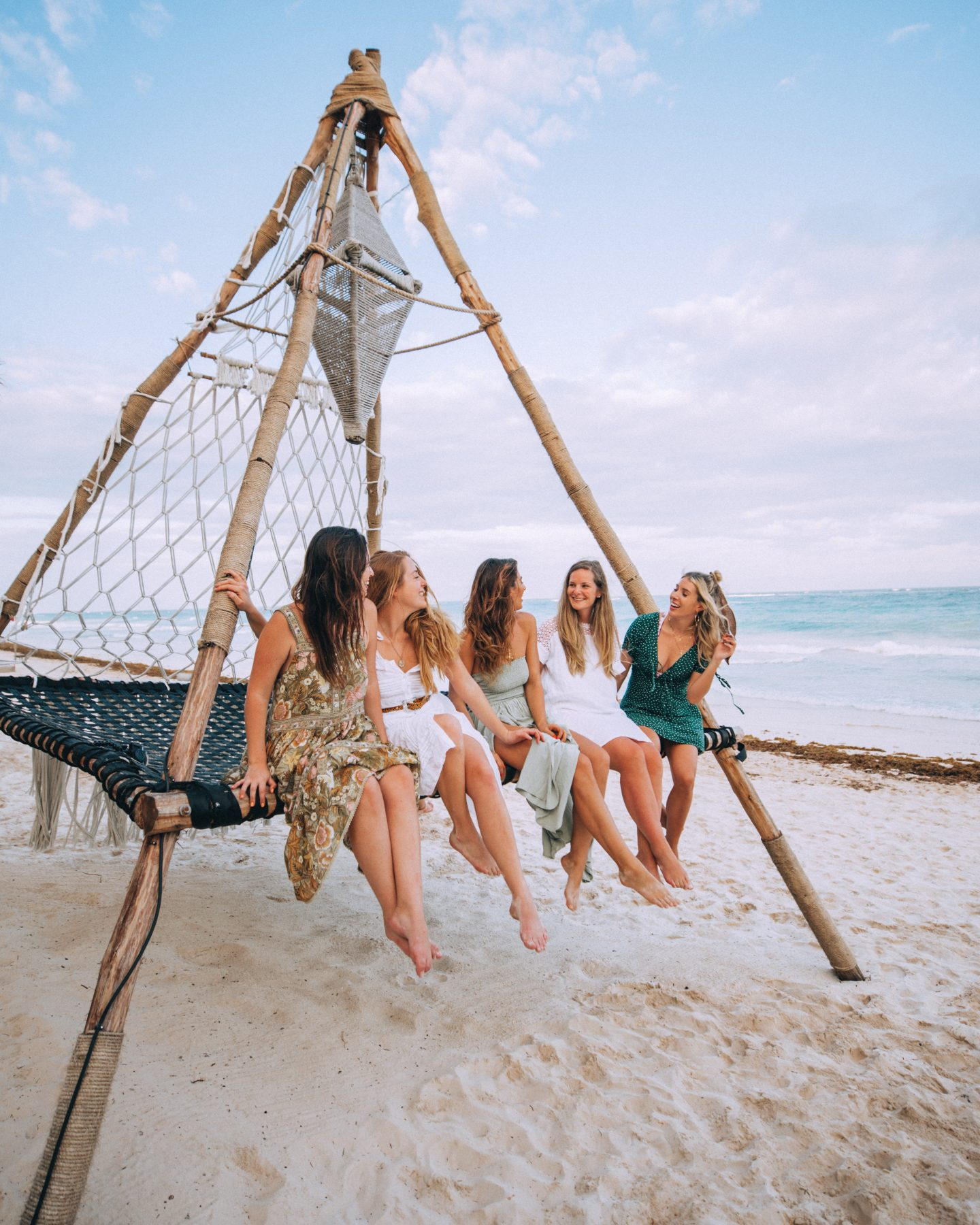 Girls trip to Tulum on the beach