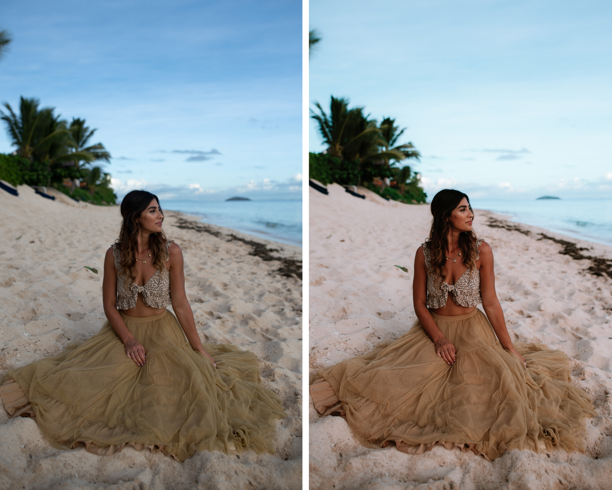 Lightroom preset before and after