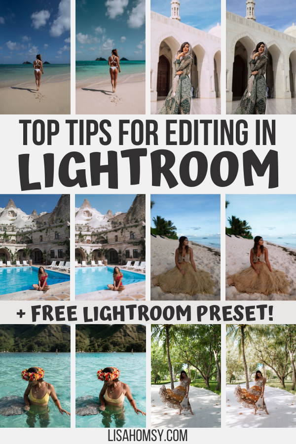 Learn my top Lightroom editing tips for using Lightroom presets for Instagram plus get a FREE Lightroom preset here! #lightroom #presets #instagramfeed #influencer | travel Instagram influencer | influencer Instagram | travel blogger Instagram | Lightroom presets free | lightroom presets tutorial | lightroom presets download | Lightroom presets travel | Lightroom tutorial photo editing | Lightroom editing tutorials | free preset for Lightroom mobile | Lightroom presets free tutorials