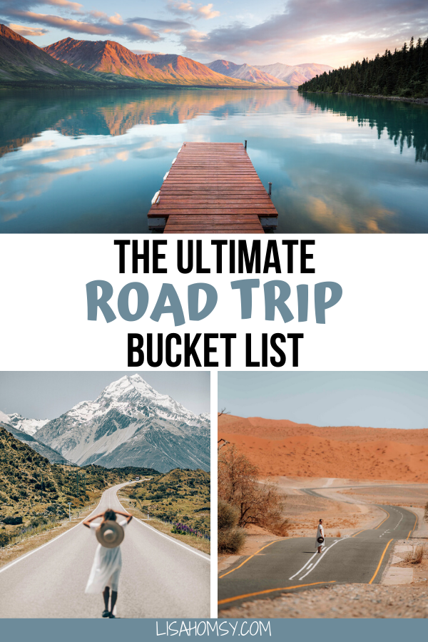 Click here for a list of the best road trips in the world to add to your travel bucket list. Get 13 road trip ideas for the USA, Europe, and more! #roadtrip #bucketlist #travel | worlds best road trips | best road trips around the world | best road trips in america | best road trips in north america | best road trips in europe | best road trips in america west coast | best road trips in the us | best vacation spots in the us road trips | bucket list destinations | bucket list travel