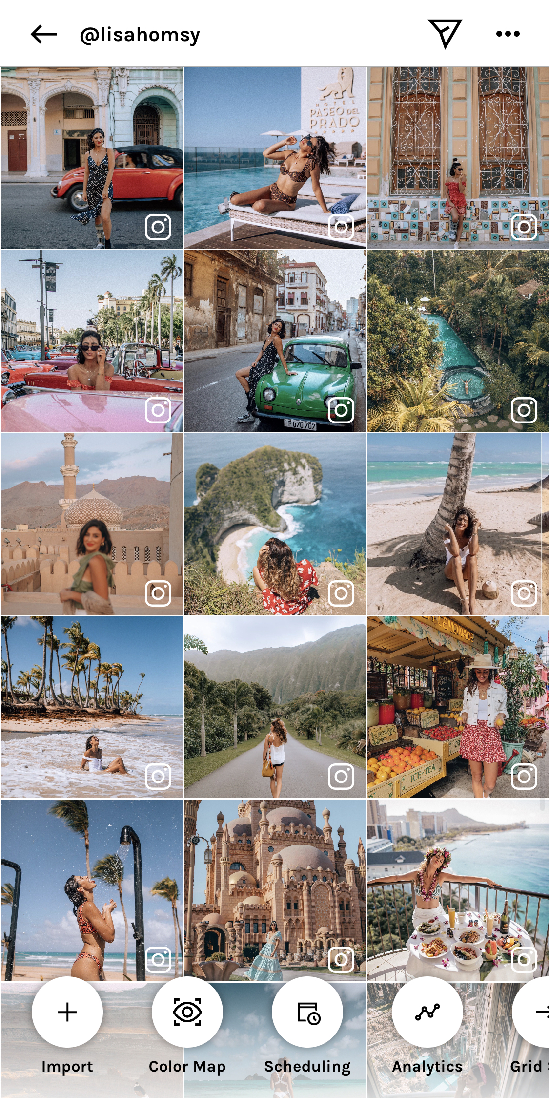 UNUM is the best app for Instagram feed planning