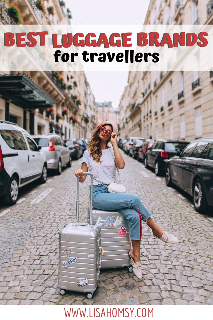 Get a list of the top luggage brands for travelers and find out why these pieces of luggage work so well for domestic and international travel. Find brands like Away luggage, Samsonite luggage, Douchebags luggage, the best packing cubes, the best camera bag for travel and more! #luggagebrands | best luggage for travel for women | best luggage for international travel | best luggage brands | best brand of luggage | good luggage brands | luggage brands travel