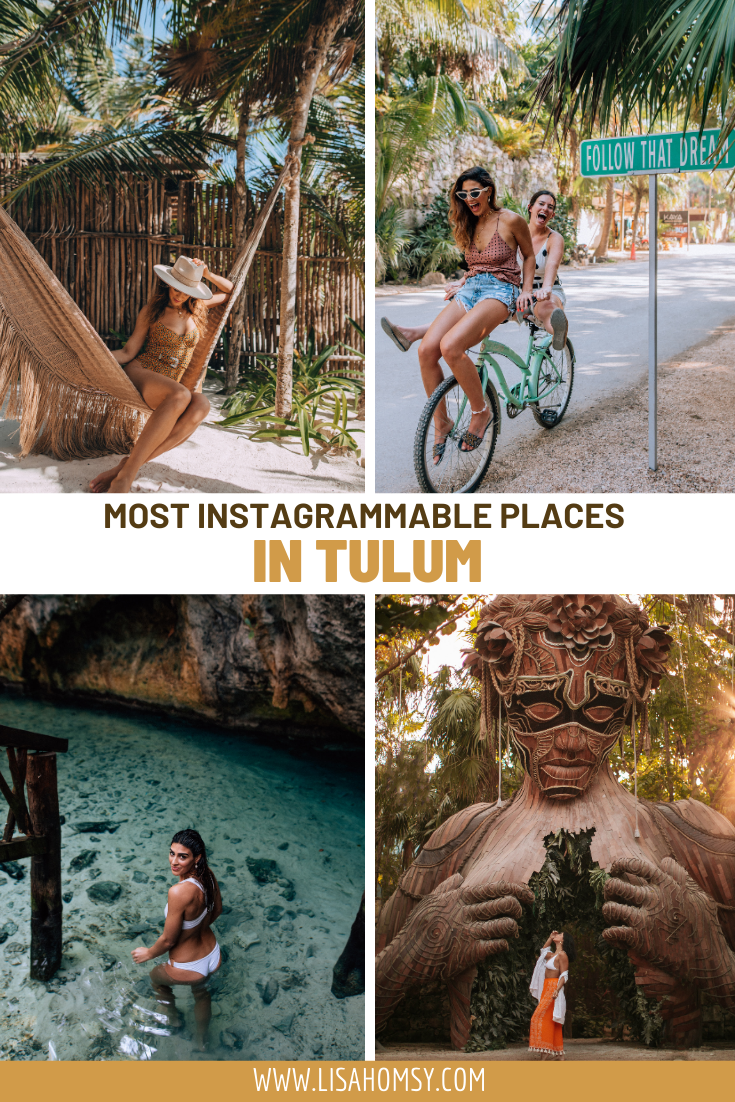 Click here for a guide to the most Instagrammable places in Tulum, Mexico. #tulum #mexico #visitmexico #tulummexico #rivieramaya Tulum Mexico | Things to do in Tulum | Tulum Mexico outfits | Tulum photo spots | best Tulum resorts | best Tulum Instagram photo spots | Tulum Mexico photography | Tulum Mexico travel guide | Tulum Mexico Ruins | Tulum travel guide | Mexico vacation | Tulum Tnstagram hotspots | Tulum summer travel | where to stay in Tulum | what to do in Tulum | Tulum things to do